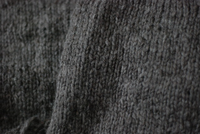 Closeup texture of handspun sweater