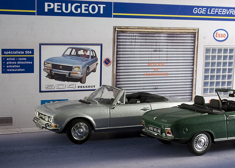 Diorama pr sentoir peugeot garage lefevbre 1 43 me for Garage peugeot 76