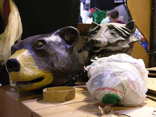 MayDay 2013 bear mask and base