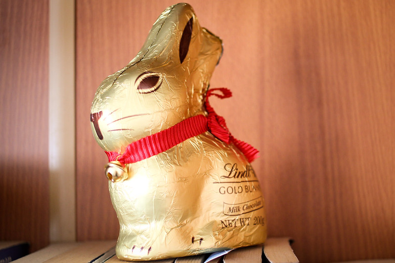 Tuesday, April 2: It's not easter with a Lindt bunny.