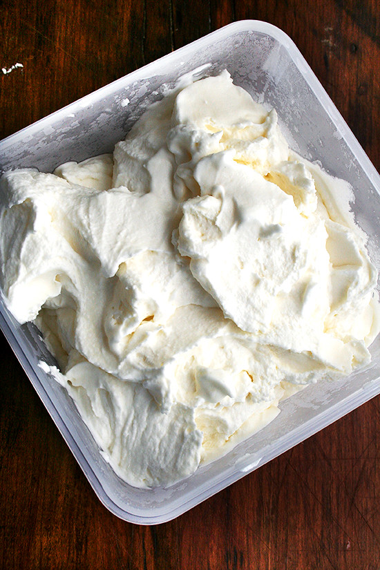 tub of mascarpone sorbet