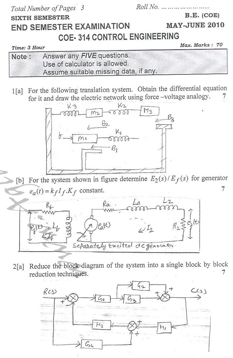 DTU Question Papers 2010 – 6 Semester - End Sem - COE-314