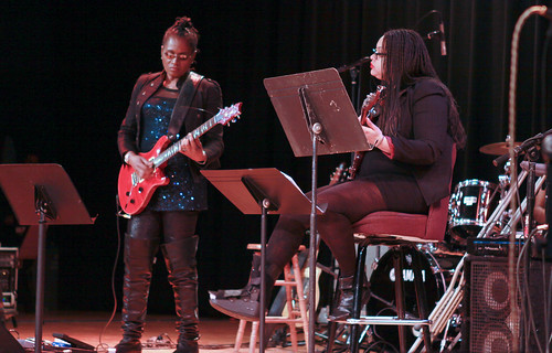 musicians at the black women rock show