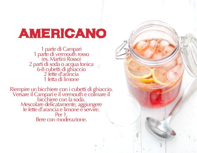 americano, ricetta
