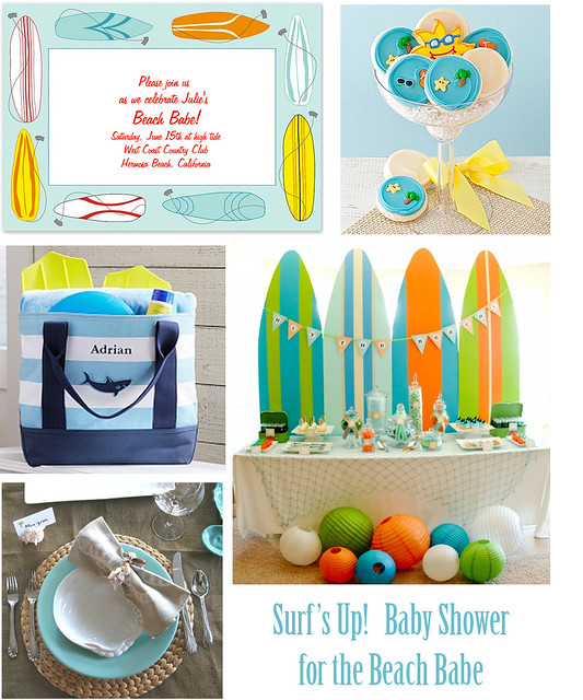 Beach Babe Baby Shower: Surfs Up!