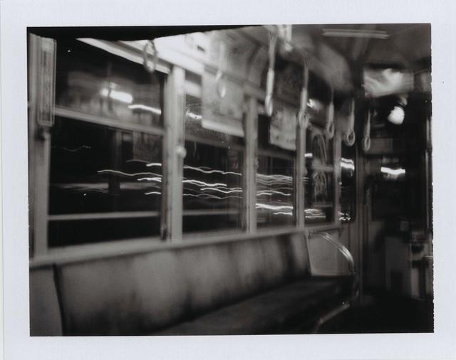 熊本市電車内