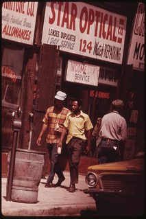 Ghetto Street Scene In Chicago On The South Side. The City Census Figures Show A Significant Gap In Economic Security Between Blacks And Whites, 07/1973