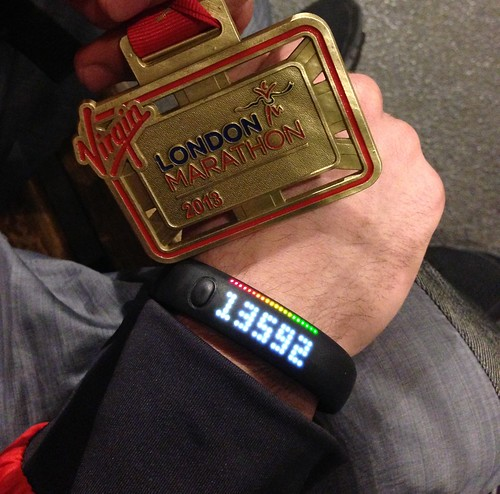 London Marathon 2013 Fuelband