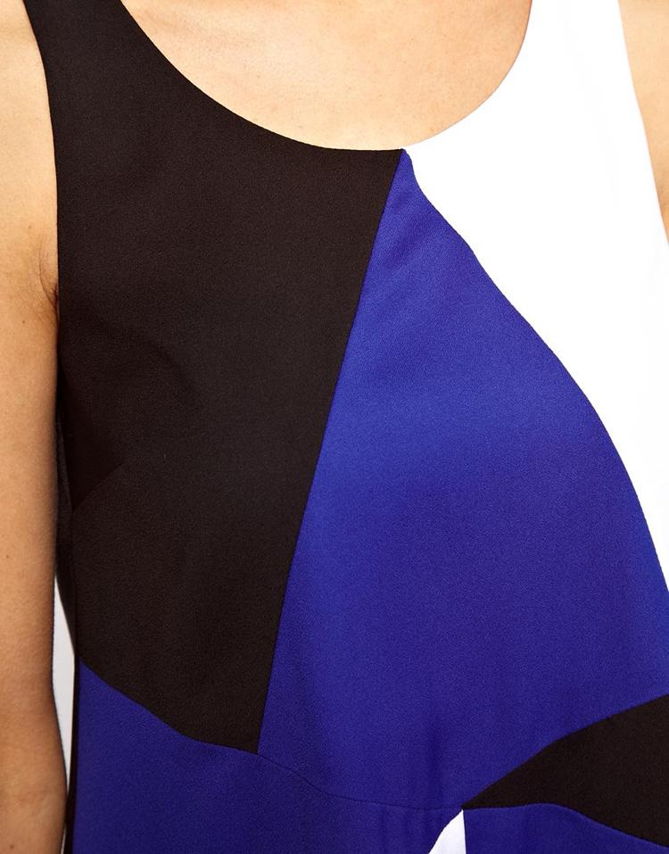 ASOS Swing Dress in Colour Block