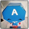 our chibi Captain america Papercraft  ^-^  i designed him to be extra kawaii!!!!!!  #animechibisen #chibisen #papercraft #handmade #cute #picoftheday