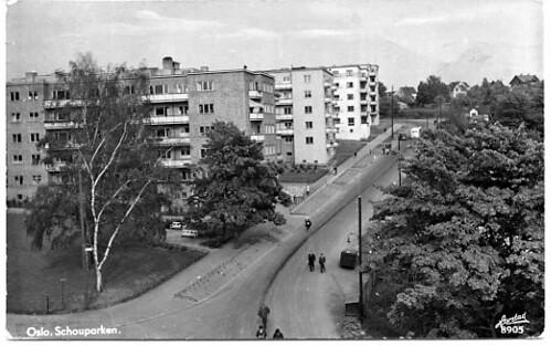 Sinsenveien.  Schouparken. Oslo.