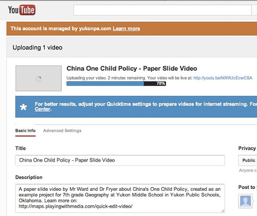 YouTube - Upload Video