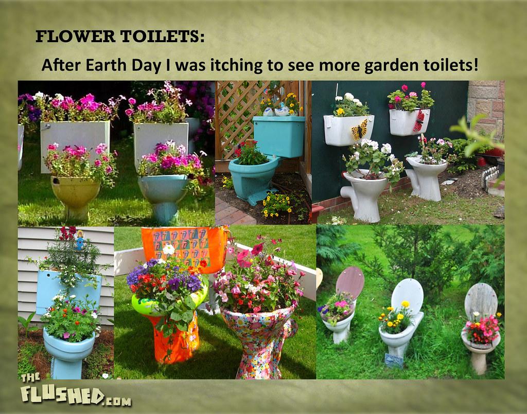 Flower Toilets