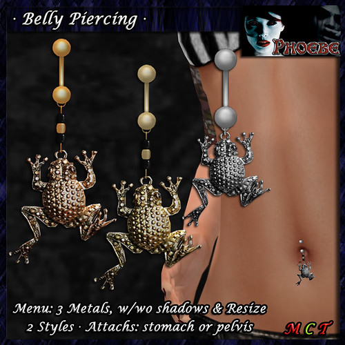 *P* Frog Belly Piercing ~3 Metals~