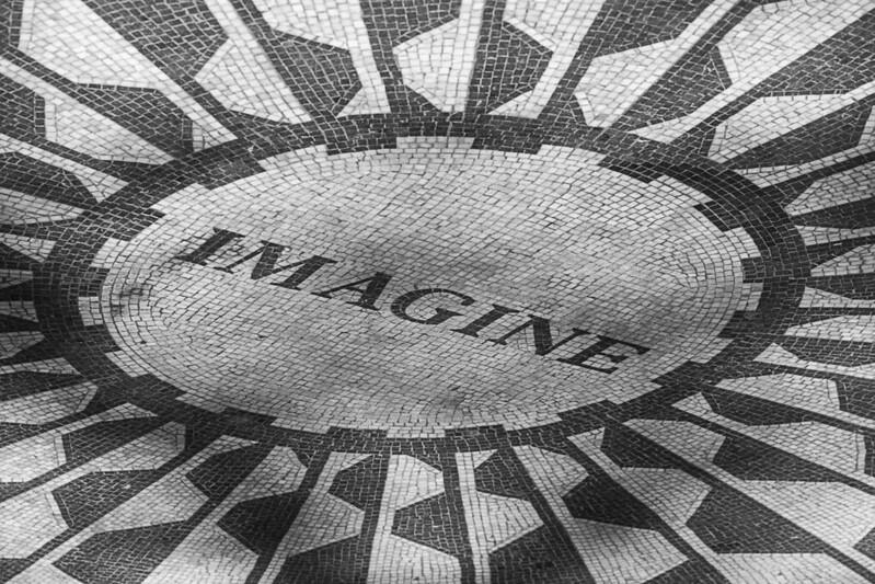 Strawberry fields en Central Park de NY - en memoria de John Lennon