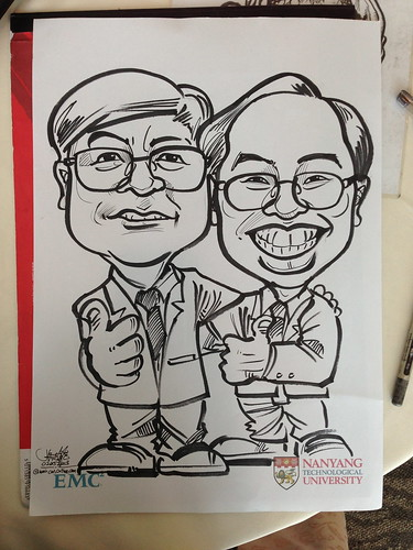 caricature live sketching for EMC
