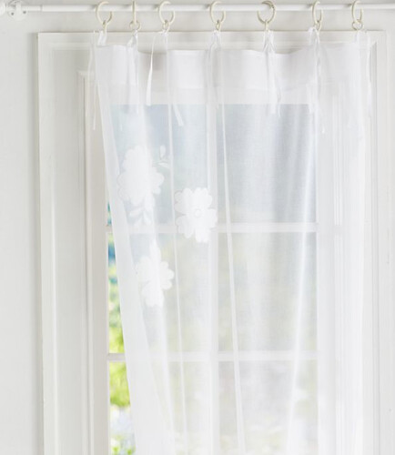 S 2 Pottery Barn Teen Flower Applique Sheers Sheer Drapes