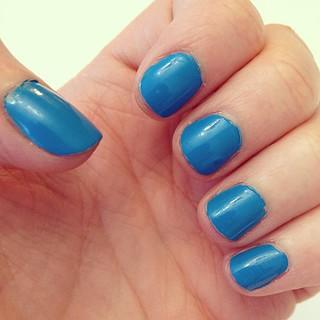 Day122 Blue nails to brighten my mood 5.2.13 #jessie365