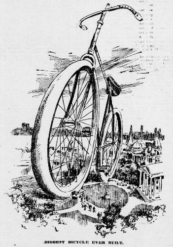 """Biggest Bicycle Ever Built"" (1897)"