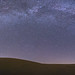 Smooth Sand. Panorama of the Milky Way Over Glamis by slworking2