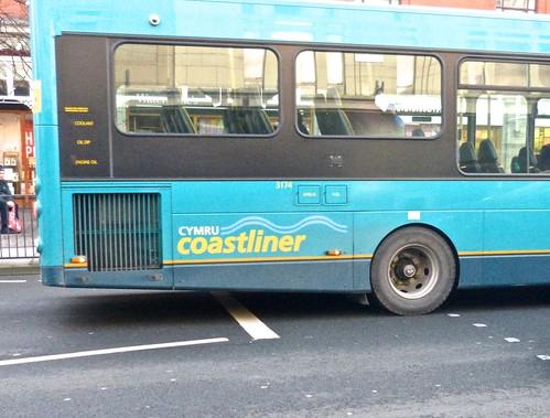 Arriva North Wales Cymru Coastliner branding  on 'Dennis Basford's railroadsrunways.blogspot.co.uk'
