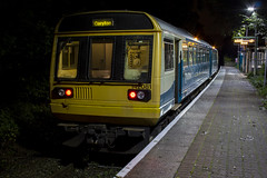 Night time on the City Line: Class 142 Pacer DMU at Coryton, Cardiff