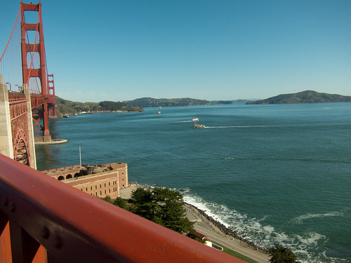 Boats at the Golden Gate Bridge