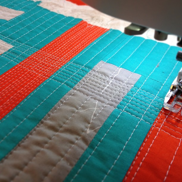 Crazy dense quilting inspired by @jacquietps !