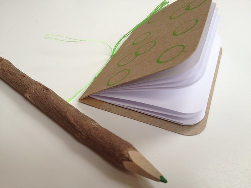 Handmade book & twig pencil
