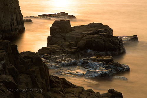 sunset sea rock japan spring 2013 fukuipref