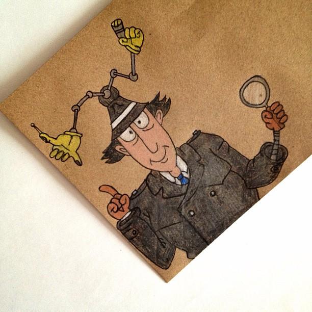 Day 3: Superhero #inspectorgadget #doodleaday #doodleadayapril #doodle #cartoon #childhood