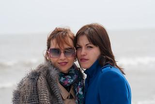 Image of Піщаний пляж near Mariupol. portrait sisters ukraine mariupol donetskoblast olgasagirova nataliakhozlu