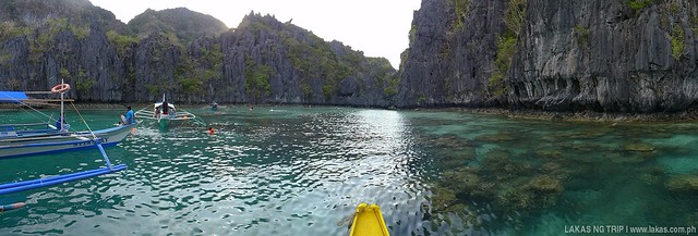 Panoramic shot to the entrance of Small Lagoon in El Nido, Palawan