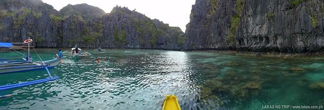 Panoramic shot to the entrance of Small Lagoon in El Nido, Palawan