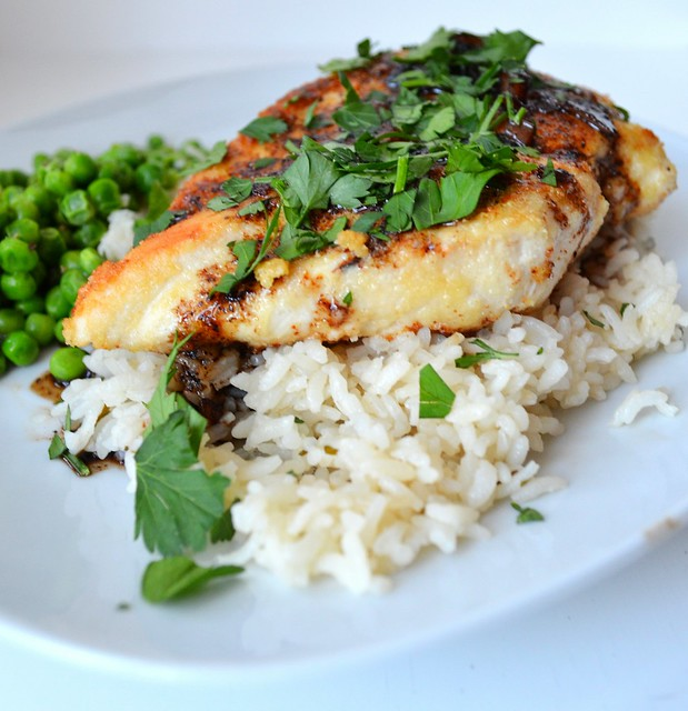 Almond-Crusted Balsamic Chicken