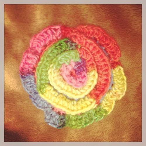 Crochet Rainbow Flower