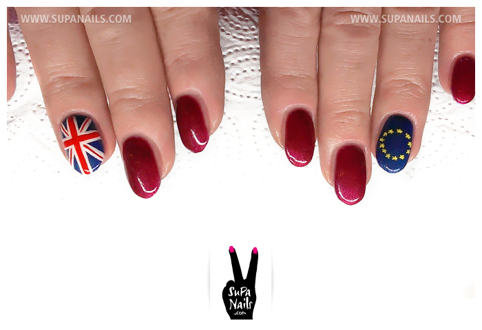 Eddie Izzard Flag Nails