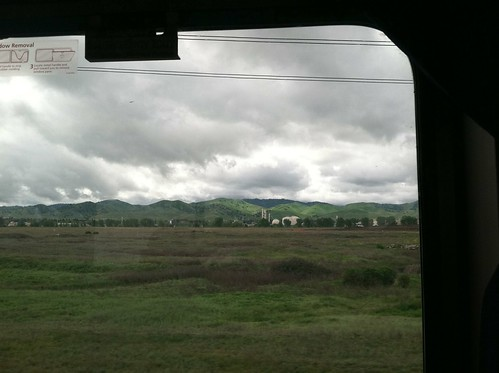Amtrak leaving the coastal hills