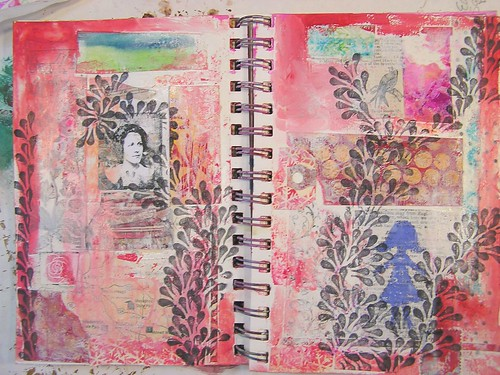 Collage Page in Art Journal, Part 3