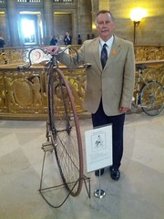MoDOT Director Dave Nichols at Bicycle & Pedestrian Day at the Capitol 2013