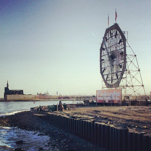 Rail terminal, lady liberty, big ol' clock.