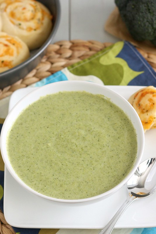 Lightened Up Broccoli-Cheddar Soup