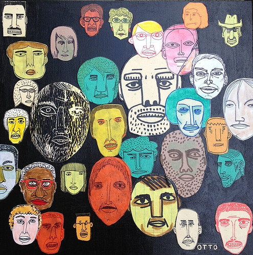Nate Otto, Faces on Black, 2012