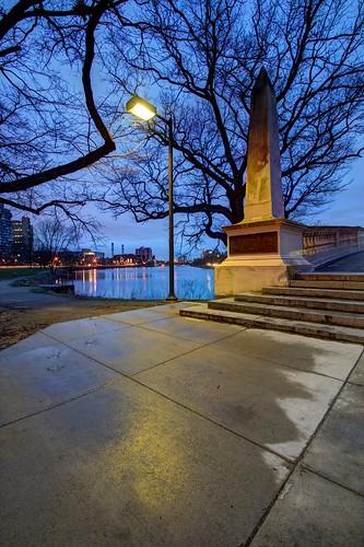 Early Morning in Cambridge. Weeks Footbridge, Cambridge Massachusetts