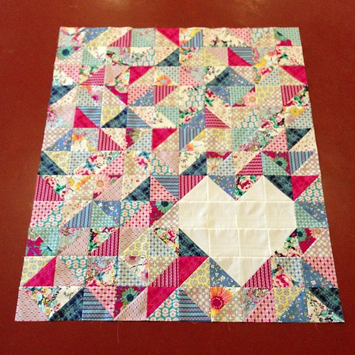102:365 Quilt top done!! Love this @artgalleryfabrics line! #thestashbash