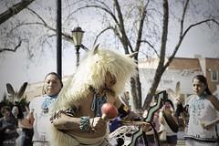 Zuni Pueblo Members - White Buffalo Dance in Old  Town Albuquerque