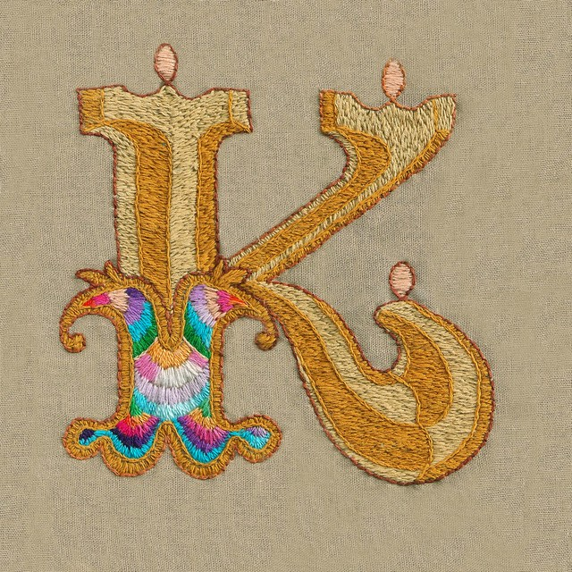 Embroidered K