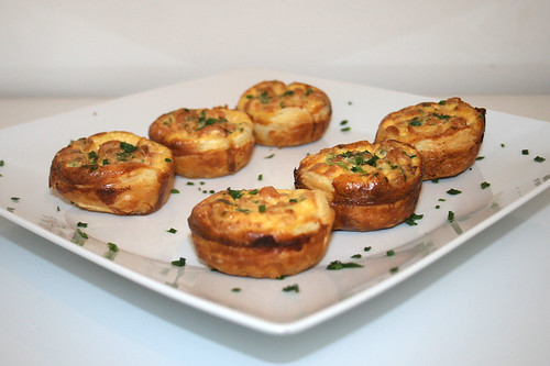 23 - Mini-Krabben-Quiches - Seitenansicht / Mini shrimp quiches - side view