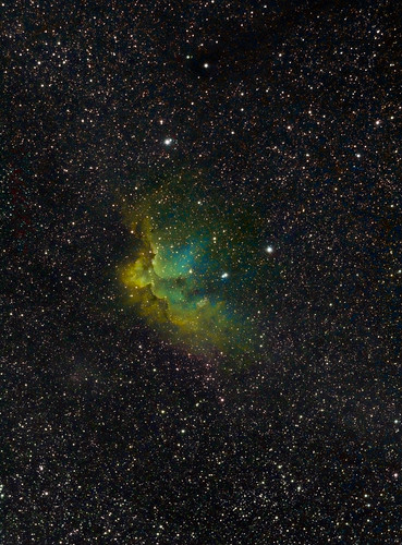 Wizard Nebula Tonemapped LRGB - Correct orientation. by Mick Hyde