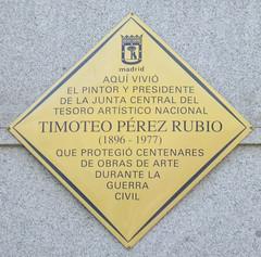 Photo of Timoteo Pérez Rubio yellow plaque
